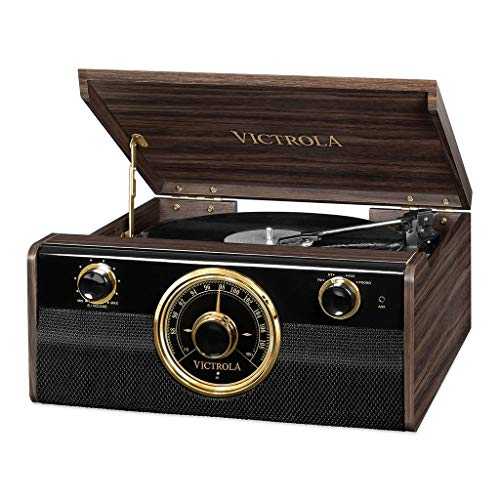 Victrola Empire Junior 4-in-1 Bluetooth Plattenspieler Musikzentrum – Expresso