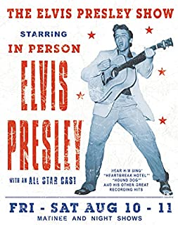Desperate Enterprises Elvis Presley Show Tin Sign, 12.5