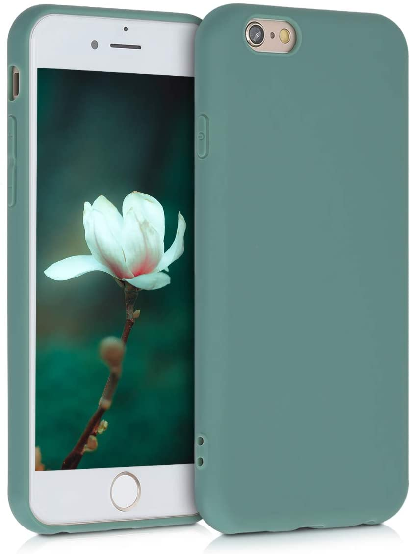 kwmobile TPU Case Compatible with Apple iPhone 6 / 6S - Case Soft Slim Smooth Flexible Protective Phone Cover - Forest Green
