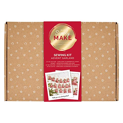 Simply Make, DSM 106004, Create Your Own Personalised Advent Calendar Hanging Garland Sewing Kit by docrafts