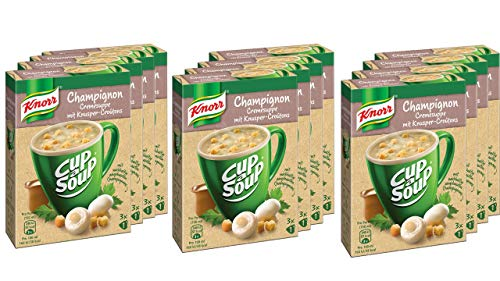 Knorr Cup a Soup Champignoncreme Instant Suppe 3 Tassen,12er Pack (12 x 36g)