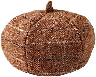 Swyss Women's Plaid Beret Artist Painter Hat Dome Autumn Winter Fashion Ladies Beanie Hat