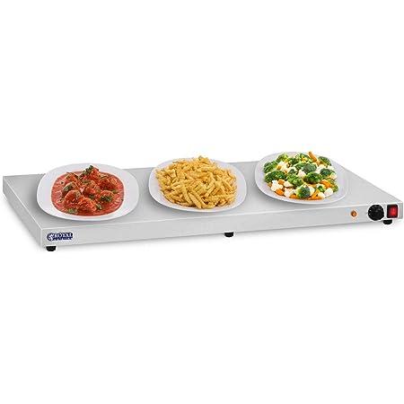Royal Catering Chauffe-Plats Electrique RCHP-600E (600W, Plage de température 35 – 90 °C, Surface de Travail 100x50cm)