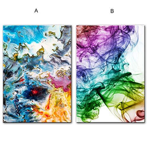 Bzdmly aquarel abstracte canvas kunst schilderijen muur kleurrijke pop-art wandposters en afdrukken moderne wooncultuur 30x40 cm/11.8