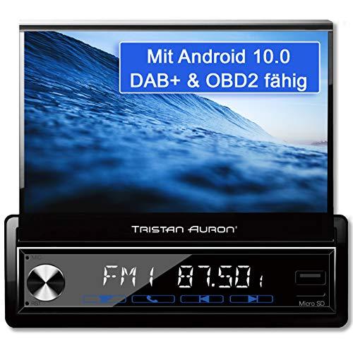 Tristan Auron BT1D7027A Android 10.0 Autoradio I 32GB ROM I 7'' Touchscreen I GPS Navi I Bluetooth Freisprecheinrichtung I USB SD OBD 2 DAB Plus I 1 DIN