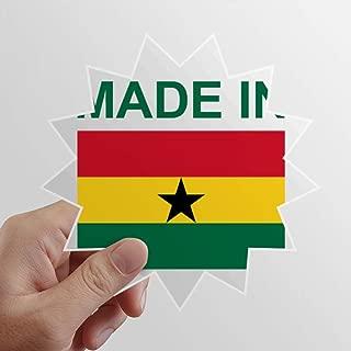 DIYthinker Made in Ghana Country Love Sun Vinyl Sticker Luggage Graffiti Decal