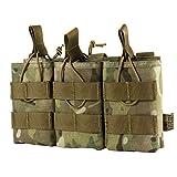 OneTigris Le Porte Chargeur Triple M4/M16/AK/AR/FAMAS La Pochette des Magasins Tactiques avec Molle pour Airsoft (Camo)