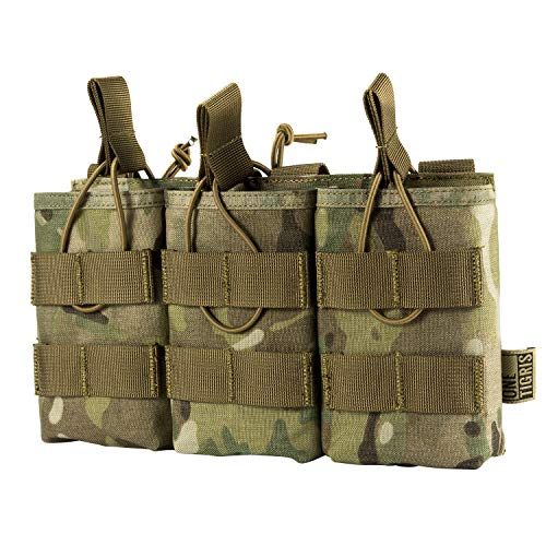 OneTigris Taktische MOLLE AR/AK/AKM Magazintasche Nylon Magazinbeutel für M4/M16/AK47 /AK74 (Camo-Verbesserte Version)