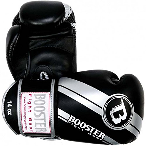 Booster Boxhandschuhe, Leder, V3, Silver Foil, Boxing Gloves, Leather, Muay Thai Size 12 Oz
