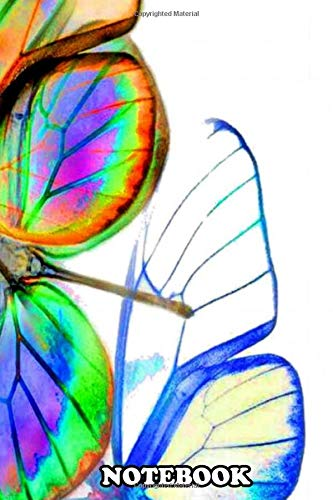 """Notebook: Mariposa Is Spanish For Butterfly My Work Is Created I , Journal for Writing, College Ruled Size 6"""" x 9"""", 110 Pages"""