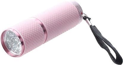 Facibom Buiten roze rubber gecoate 9-LED zaklamp zaklamp