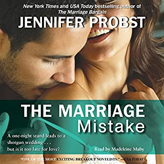 The Marriage Mistake                   By:                                                                                                                                 Jennifer Probst                               Narrated by:                                                                                                                                 Madeleine Maby                      Length: 8 hrs and 37 mins     996 ratings     Overall 4.3