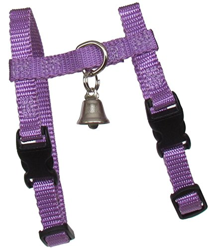 """Sandia Pet Products 3/8"""" PETITE (For A Small Female Or Young Ferret) Lavender Ferret Harness with Bell - Adjustable"""