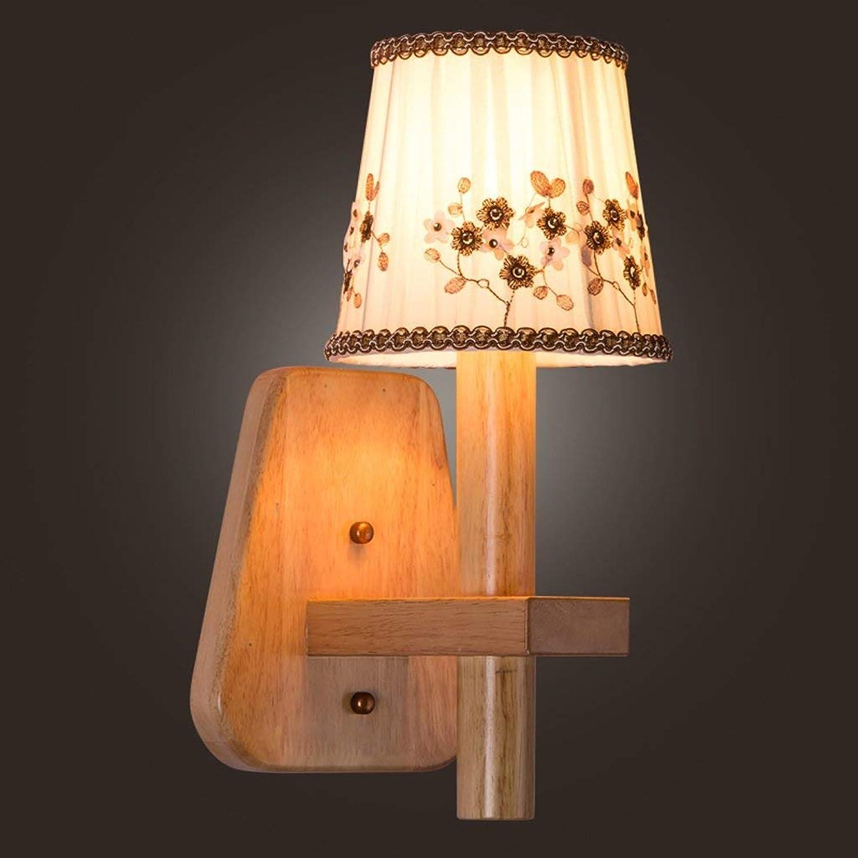 Moderne Warmes Tuch Nachttischlampe Nordic Wohnzimmer Schlafzimmer Restaurant Gang Massivholz Lampen A+