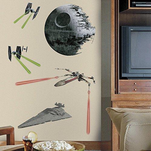 Stickers Star Wars Classic Vaisseaux Géant Roommates Repositionnables (17 éléments) - Ado - Style : Ado