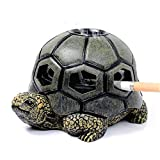 Monstruo tortuga cenicero para cigarrillos Manualidades Cenicero creativo con tapa Decoración de sala de estar al aire libre LCNINGYHG