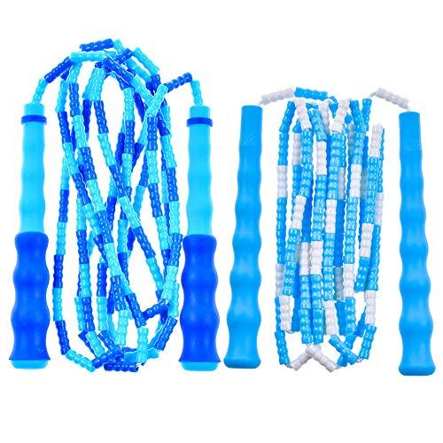 JUMP Yuedongなわとび こども 縄跳び 子供用 小学生 幼児 学校 ビーズロープ 飛びやすい ジャンプロープ ねじれ防止 フィットネス ダイエット 筋トレ用 男女兼用 長さ調整可 収納袋付き