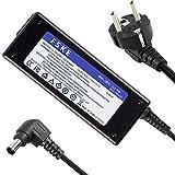 FSKE 90W Cargador Portátil para Sony Vaio VGP-AC19V48 VGP-AC19V42 VGP-AC19V32 VGP-AC19V31 VGP-AC19V37 VGP-AC19V20 VGP-AC19V41 VPCEH VPCSB AC Adaptador, Notebook EUR Power Supply(19.5V 4.7A 6.5*4.4mm)