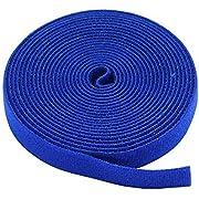 Monoprice Hook & Loop Fastening Tape 5 Yard/roll, 0.75-inch - Blue (105830)