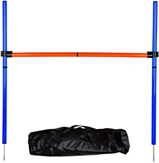 MelkTemn Dog Agility Equipment - Dog Agility Hurdle,Dog Agility Weave Poles,Dog Agility Jump - Canine Agility Set for Pet Dog Outdoor Games Training,Obedience,Rehabilitation with Carrying Bag