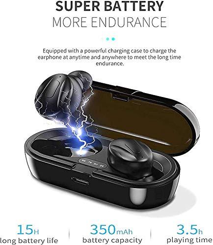 Auriculares Bluetooth, 2020 Auriculares Inalambricos Bluetooth con CVC 8.0 cancelación de Ruido, Cascos inalambricos Bluetooth internos de 15 Horas para Sport Android iOS PC(B-L-062) miniatura