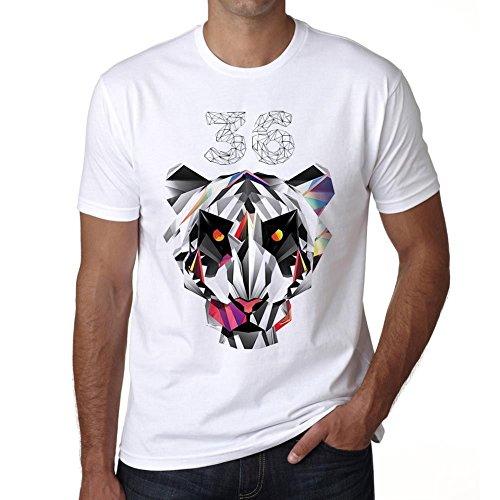 One in the City Geometric Tiger Number 36, Camiseta Hombre, Camiseta con Palabras, Camisetas de Regalo, Camiseta con imágenes
