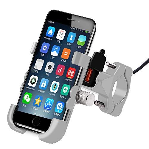 Coomir mobiele telefoonhouder van aluminiumlegering, snel opladen, multifunctioneel, voor het stuur van de motorfiets