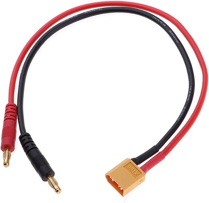 Cable de Carga Banana 4.0 mm A Macho XT60 / MPX / HXT4.0 ...