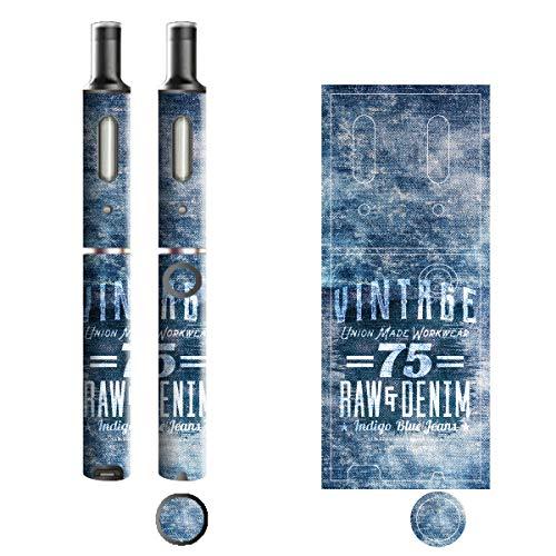 電子たばこ タバコ 煙草 喫煙具 専用スキンシール 対応機種 プルームテックプラスシール Ploom Tech Plus シール Jeans デニム モチーフコレクション 16 ロゴホワイト 21-pt08-2244