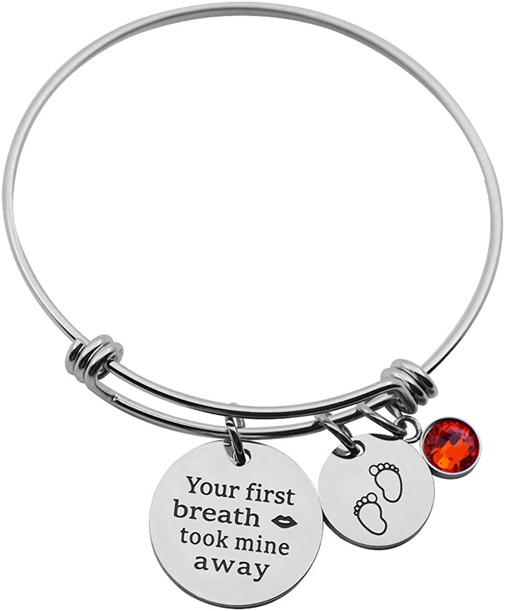 Jewelady Bracelet for Mom Grandmother Granddaughter form Daughter Granddaughter,Stainless Steel Expandable Bangle for women Girls,Family Gifts,birthday christmas Gifts.