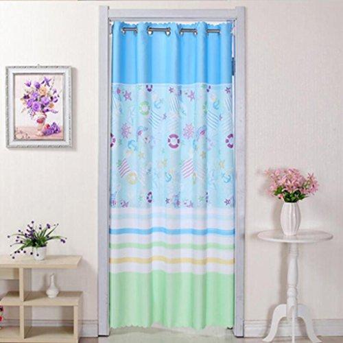 Liuyu · Maison de Vie Porte Rideau Tissu Chambre Double-Face Décoration Salon Coupé Long Rideau (Couleur : Bleu, Taille : 200 * 120cm)