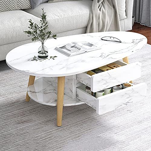 Tavolini da caffè Mesa de noche, sala de estar, esquina de gabinete lateral simple, mesa lateral de sofá, mesa de extremo lateral sólido pequeña mesa de café con 2 niveles de almacenamiento para sala