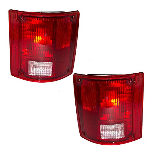 Aftermarket Replacement Driver and Passenger Set Tail Lights Compatible with 1973-1991 Blazer Suburban Jimmy Pickup Truck 5965771 5965772