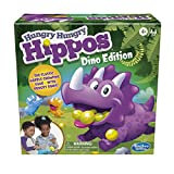 Hasbro Gaming Hungry Hungry Hippos Dino Edition Board Game, Pre-School Game for Ages 4 and Up; for 2 to 4 Players