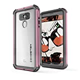 LG G6 Waterproof Case, Ghostek Atomic 3 Series for LG G6 Underwater Cover Shockproof Shock Absorption Dustproof Scratch Resistant Aluminum Rubber Heavy Duty Rugged Armor Swimming Immersible (Pink)
