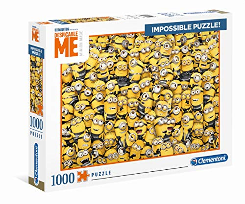 Clementoni 39408 Impossible Puzzle 1.000 Teile-Minions, Verschiedene Farben
