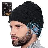 Bluetooth Mütze Herren Damen, Geschenke für Männer & Frauen, Bluetooth Beanie Wintermütze Herren, Warme Strickmütze mit Kopfhörern Bluetooth, Adventskalender Männer 2021, Weihnachts Nikolaus Geschenke