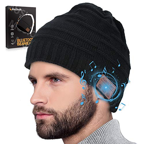 Bluetooth Mütze Herren Damen, Geschenke für Männer & Frauen, Bluetooth Beanie Wintermütze Herren, Warme Strickmütze mit Kopfhörern Bluetooth, Adventskalender Männer 2020, Weihnachts Nikolaus Geschenke