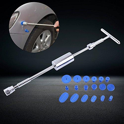 Kit Herramientas abolladuras PDR martillo deslizante + 18pcs ingletes de pegamento herramienta Reparación carrocería