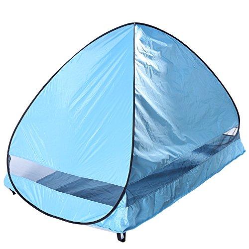 PLEASUR Lichtgewicht tent voor 2 personen, halve maan, voor op de deur, kampeerder, voor op het strand, op het park, picknick, wandelen, klimmen, zelfrijders, blauw