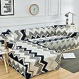 Fundas de sofá elásticas Impresas para Sala de Estar Funda de sofá Esquina en Forma de L Chaise Longue Sillón Sofá Funda A21 1 Plaza