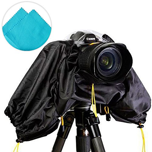 First2savvv SLR Camera Rain Coat cover for OLYMPUS Nikon Canon SD + blue Cleaning cloth