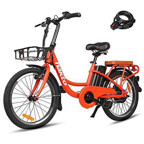 """Trekpower 20""""Electric Bike, 250W Dual Disc Brake Ebike for Female, City..."""