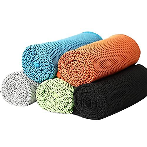 SODIAL Paquete de 10 Toalla de Enfriamiento Toallas Suaves y Transpirables de Secado RáPido Enfriamiento InstantáNeo para Correr, Yoga, Entrenamiento, Camping, Viajes
