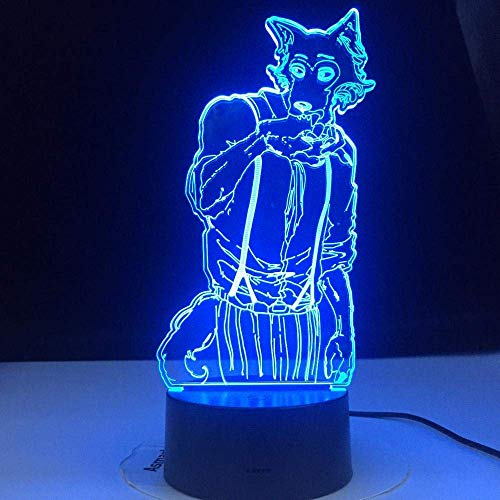 Lampka nocna 3D dla dzieci na biurko lampa stołowa bestia lis Legosi rozświetl swoje marzenia do sypialni przy stole dekoracja prezenty zabawki dla dziewcząt chłopca dzieci na urodziny święta Boże Narodzenie Halloween wit