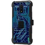TurtleArmor | Kompatibel mit Nokia C2 Tava Hülle | Nokia C2 Tennen Hülle [Hyper Shock] Robuste Hybrid-Doppelschichtige Armor Holster Gürtelclip Hülle - Phone Circuit Board