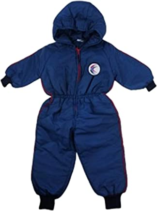 Baby Boys Toddler Navy Padded Hooded Waterproof Snowsuit Jacket.Ages:6-18Month