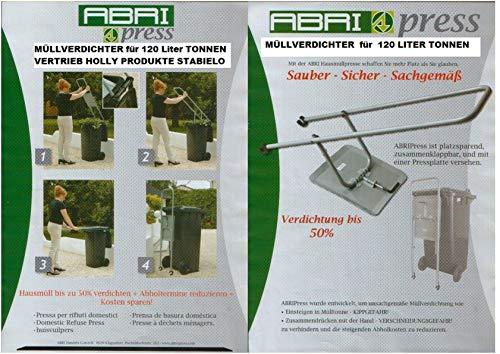 STABIELO NEU 2020 er DER Large Stahl - MÜLL- RESTE - KOMPOST - VERDICHTER - FÜR 240 Liter TONNEN - VERTRIEB Holly Produkte