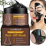 Black Mask, Mitesser Maske, Peel Off Maske, Black Head Maske, Gesichtsmasken Schwarz, Tiefenreinigung Mitesser Entferner Anti Akne Öl-Kontrolle Purifying, 120g