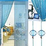 AIFENTE Door Curtain Door Fly Screen Curtain Beaded for Doorways Divider or Window Curtain Panel 90x200cm